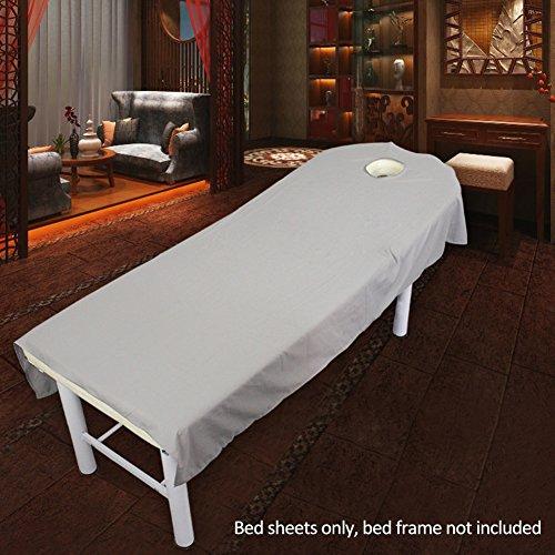 Feuilles de traitement de beauté de massage doux Massage Spa Traitement Table Housse de matelas avec trou
