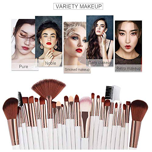 Cwemimifa Make-up Pinsel Reiniger,25pcs Cosmetic Makeup Brush Blusher Eye Shadow Brushes Set Kit,G - Große Shadow Brush