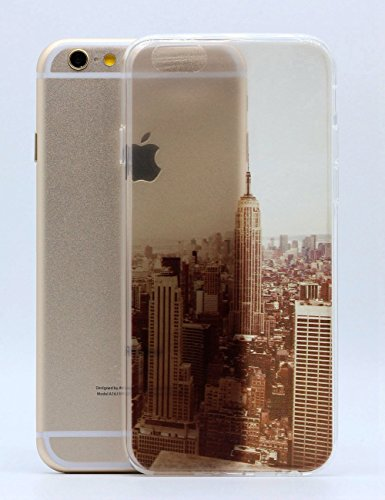 "IPhone 6 Case Cover iPhone 6S paysage Hamyi nature modèle cas Fine caisse de protection souple en Silicone TPU pour Apple iPhone 6/iPhone 6S (écran 4,7"") New York"