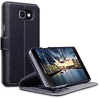 2016 Galaxy A5 Cover, Terrapin Leder Tasche Case Hülle im Bookstyle mit Standfunktion Kartenfächer für Samsung Galaxy A5 2016 Hülle Schwarz
