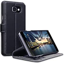 2016 Galaxy A5 Housse, Terrapin Étui Housse en Cuir Ultra-mince Avec La Fonction Stand pour Samsung Galaxy A5 2016 Coque Cuir - Noir