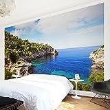 Apalis Vliestapete Cala de Deia in Mallorca Fototapete Breit | Vlies Tapete Wandtapete Wandbild Foto 3D Fototapete für Schlafzimmer Wohnzimmer Küche | mehrfarbig, 94893