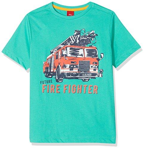 s.Oliver Jungen T-Shirt 64.806.32.5208, Türkis (Turquoise 6605), 128