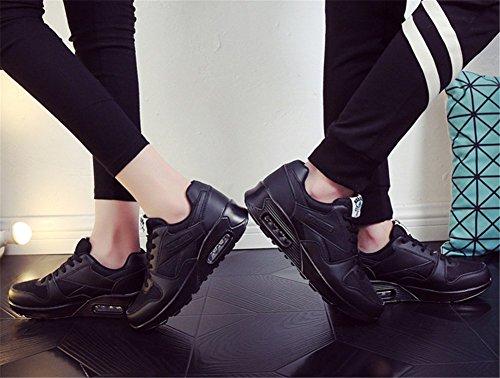 Wealsex Chaussures de Sport Basket Course Fitness Compétition Entraînement En Mesh Respirante Légère Multisport Outdoor Homme Femme Noir