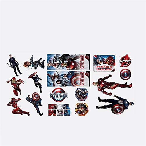 (Marvel Heroes-Stick Wandtattoo-Avengers montieren Personalisierung Kopfteil schälen und Stick Decals-Superman Batman Room Decor Aufkleber - für die Dekoration)