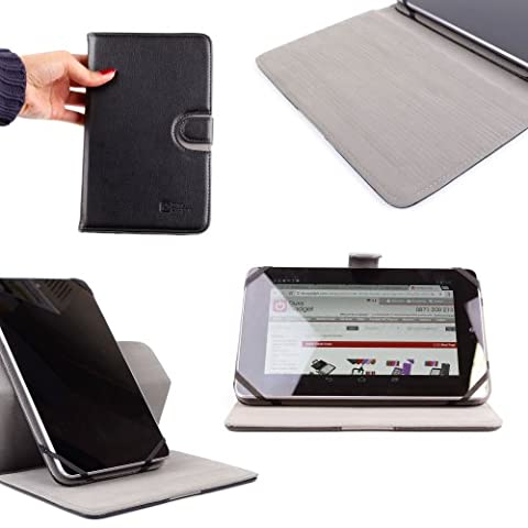 DURAGADGET Luxury Slim-Profile Black 360 Degrees Rotating Folio Cover With Multi-Angle Stand For HP Slate 7, HP Slate 7 2800, HP Slate 7 Extreme, HP Slate 7 HD, Lenovo S5000, Lenovo A300 And Lenovo A1000