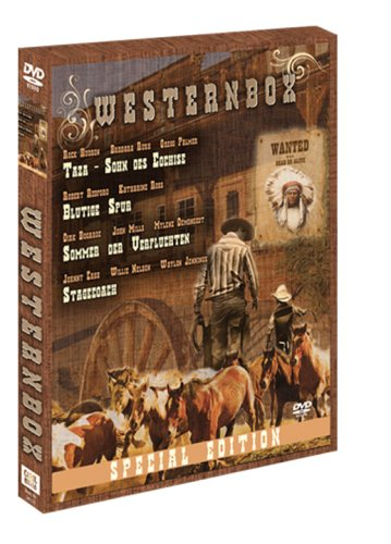 Westernbox (Holzbox) Taza - Sohn des Cochise / Blutige Spur / Sommer der Verfluchten / Stagecoach [2 DVDs]