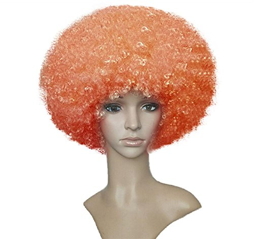 Lockig Perücke Clown Haar Funky Voll Kopf Explosiv Perücke Hoch Temperatur Faser Haar Frau Cosplay Party Schick Kleid Halloween Kostüm , (It Kostüme Yourself Do Frauen)