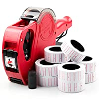 ABN Finest Price Tagging Gun Labeller Kit for Retail Shop with 11000 Label Stickers (Red)