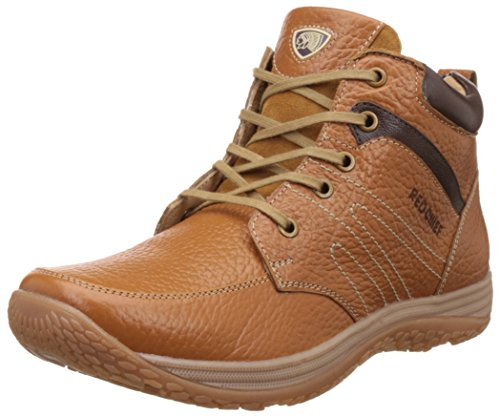 Red Chief Men's Elephant Tan Leather Boots - 8 UK/India (42 EU)(RC3425 107)