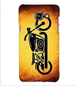 PrintVisa Bullet Bike Motorcycle 3D Hard Polycarbonate Designer Back Case Cover for Samsung Galaxy A5 2016 :: Samsung Galaxy A5 2016 Duos :: Samsung Galaxy A5 2016 A510F A510M A510FD A5100 A510Y :: Samsung Galaxy A5 A510 2016 Edition