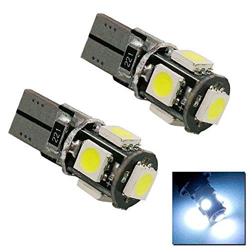 2x Ampoule Bulb Veilleuse Blanc T10 W5W 5 LED 12V DC pour Voiture