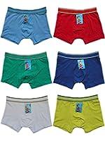 6er Pack Kids Jungen Boxershorts Unterhosen uni Gr. 92 - 164 Neu