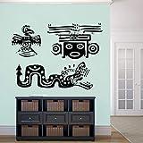 57x42 cm Indien Mexicain Animaux Sticker Animal Ornement Cool Vinyle Sticker Mural Décoration de La Maison Mur Art Design Animal Murales