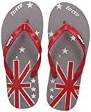 #6: Lotto Men's Grey/Red/White Hawaii House Slippers