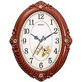 dong Reloj de pared Reloj de pared Reloj de pared Reloj de cuarzo ( Color : Color de la madera )