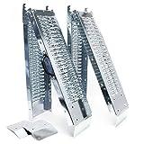 2x Auffahrrampe klappbar verzinkter Stahl Verladerampe Fahrrampe Laderampe 180x22.5x4.5cm 400kg