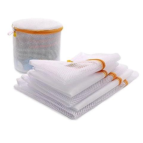Sacs à linge en maille pour linge délicat 1Chemisier bonneterie Bas Sous-vêtements Soutien-gorge Sac à linge de voyage (lot de 6)