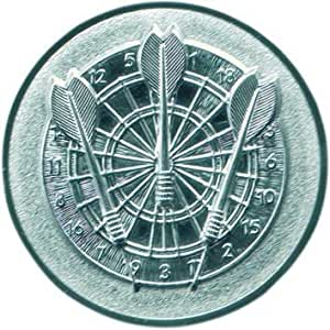 Pokal Emblem Darts 25 mm//silber