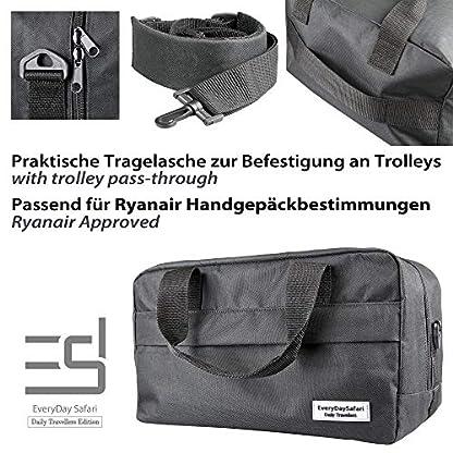 EveryDaySafari-Handgepck-Ryanair-geeignet-40x20x25cm-Hand-Reisetasche-Reisegepck-Umhngetasche-Sporttasche-Kabinengepck-Easyjet-Eurowings
