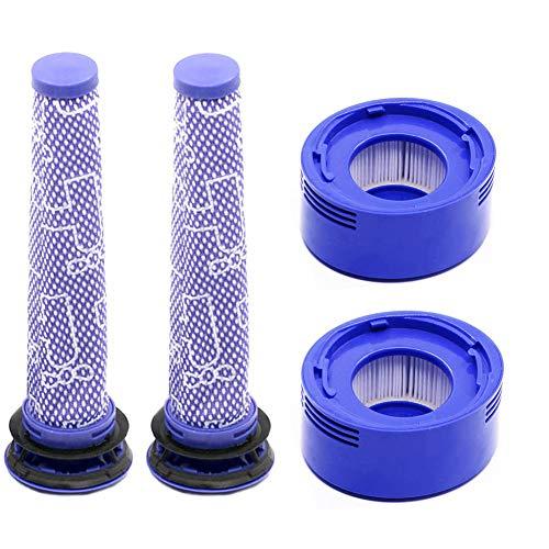 Accessoire 2 filtres avant et 2 filtres pour aspirateur Dyson V7 V8 pour animaux et Absolute sans fil