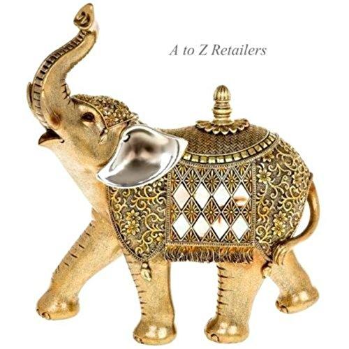 Gold Pearl Traditionelle Großer Elefant Figur Skulptur Home Ornament New 60044