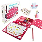 Pipity Kids Activity Sets. Holiday Essentials with Art Set + Activities Books: Arts, Craft, Travel Games + Puzzle Fun. Great Gifts For Girls and Boys Age 6,7,8,9,10 Years Old. Red