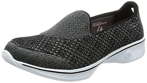 Skechers Go Walk 4-Pursuit, Entrenadores para Mujer, Gris (Charcoal), 41 EU