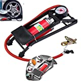 #2: High Pressure Foot Air Pump Heavy Compressor Cylinder Bike,Car,Cycles,& All Other Vehicles