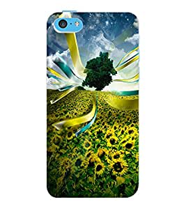 ColourCraft Beautiful Flowers Design Back Case Cover for APPLE IPHONE 5C
