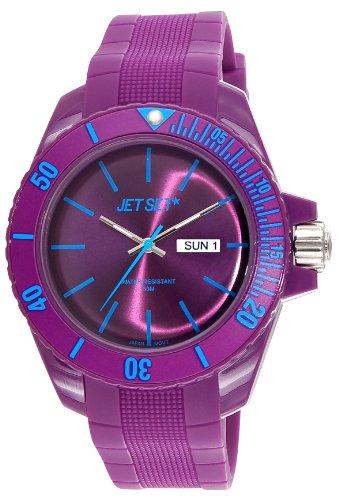 Jet Set–J83491-14Bubble Watch Unisex–Quartz Analogue Purple Dial Purple Rubber Bracelet