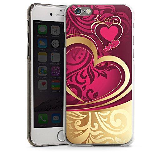 Apple iPhone 6 Plus Housse étui coque protection Amour Amour C½ur CasDur transparent