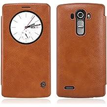 TopAce High quality PU cuero funda flip cover caso para LG G4 5.5 inch (Marrón)