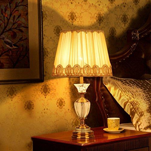 Lampada da tavolo decorativa di cristallo/Lampade stile europeo biblioteca/Soggiorno la