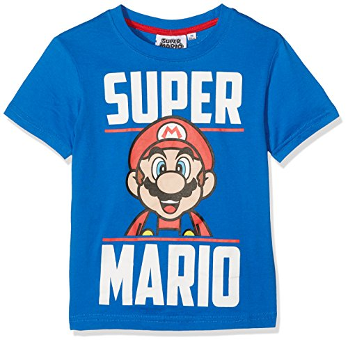 Boy's Super Mario Blue T-shirt, Aged 10 years