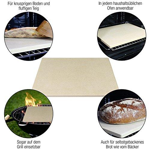 ~ Amazy Pietra per pizza – Date alla vostra pizza l'originale sapore italiano della pizza tenera e croccante cotta nel forno di pietra (38 x 30 x 1,5 cm) comprare on line