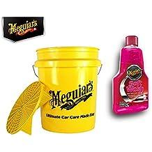 Práctico Premium Set de ropa de Meguiar 's Auto. Lavado Cubo Grit Guard 13L + Champú Soft Wash Gel 473ml