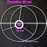 Lealoo Set d'Ossature Diamètre 40cm pour Abat-Jour, Grands Anneaux Ronds Epoxy...