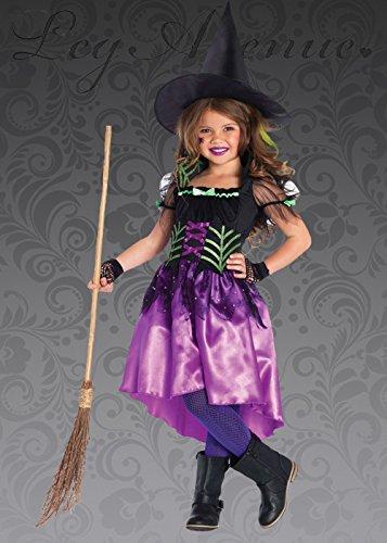 Fancy Elf Dress Kostüm Cute - Kinder Halloween Cute Spiderweb Hexe Kostüm Large (10-12 Years)
