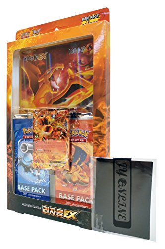 Pokémon Cartes XY BREAK Spécial Set de carte Jumbo 42 cards Dracaufeu EX Corée TCG + 3pcs Premium Card Sleeve