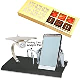 #8: Ghasitaram Gifts - Card Holder, Mobile Stand,Memo Pad and Clock BTC - 145 with Chocolate