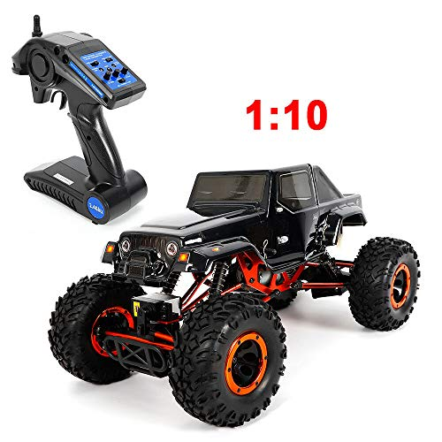 SHIOUCY 1 : 10 Ferngesteuertes Auto, RC Auto Rock Offroad Racing Fahrzeug Crawler Truck Monster Truck HSP 4WD Scale Electric Climbing Off Road Rock Crawler (Truck Scale Monster 10 1)
