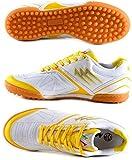 AGLA PROFESSIONAL FANTHOM PRIME OUTDOOR scarpe calcetto futsal (42, WHITE/YELLOW)