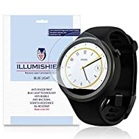iLLumiShield - Motorola Moto 360 Sport Screen Protector + (HD) Blue Light UV Filter / Premium Clear Film / Anti-Fingerprint / Anti-Bubble Shield - [2-Pack]& Lifetime Warranty