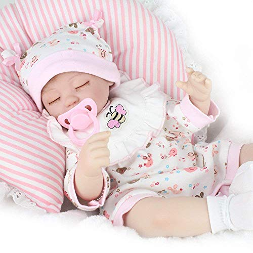 CHAREX Reborn Baby Dolls 16 inch Handmade Newborn Babies Dolls Soft Vinyl Silicone Lifelike Kids Gifts / Toys for Ages 3+