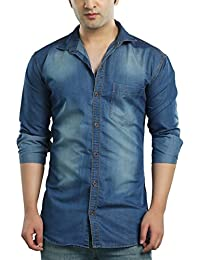 6b989dcdb5b Denim Men s Shirts  Buy Denim Men s Shirts online at best prices in ...