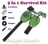 #10: Gadget Hero's 5 in 1 Multi Function Survival Tool Kit With Fire Starter.