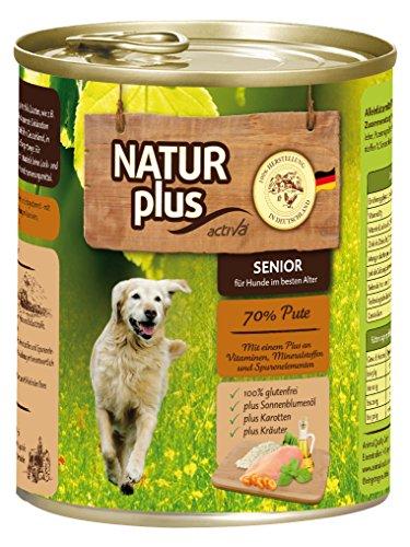NATUR plus Hundefutter SENIOR mit 70% Pute - getreidefrei (6 x 800 g)