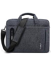 CoolBell 17,3 Zoll Laptop Tasche Nylon Aktentasche mehrfachfach Umhängetasche Business Messenger Bag für Computer/Männer / Damen,Grau