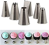 Seguryy 6 PCS Icing Piping Nozzle Cake Decorating Sugarcraft Pastry Tips Tool Set